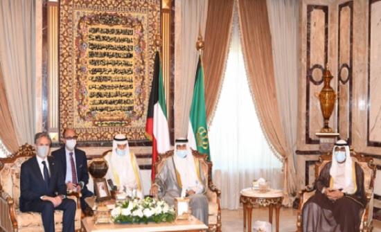 أمير الكويت يبحث مع بلينكن مستجدات الأوضاع في المنطقة