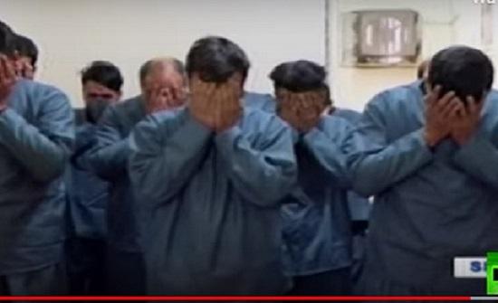 """إيران تعرض لقطات لمعتقلين """"شاركوا في أعمال شغب"""" أثناء الاحتجاجات"""