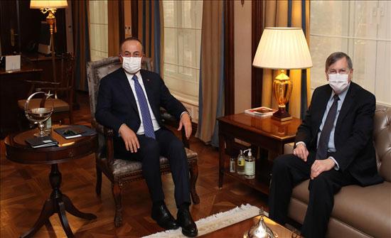 تشاووش أوغلو يلتقي السفير الأمريكي بأنقرة