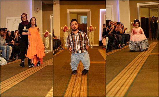 بالصور : عرض أزياء غير مسبوق يقهر المستحيل في كوردستان