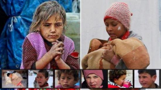 """اطفال سوريا .. تجمدت قلوبهم  """" صور """""""