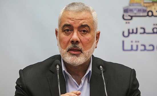 مصدر في حماس : لا زيارة قريبة لهنية إلى الأردن