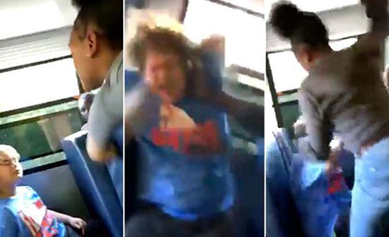 بسبب ترامب.. بالفيديو : اعتداء وحشي على طفل داخل حافلة مدرسية بأمريكا
