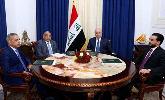 رئاسات العراق: إجراءات لملاحقة الفاسدين وقانون انتخاب جديد