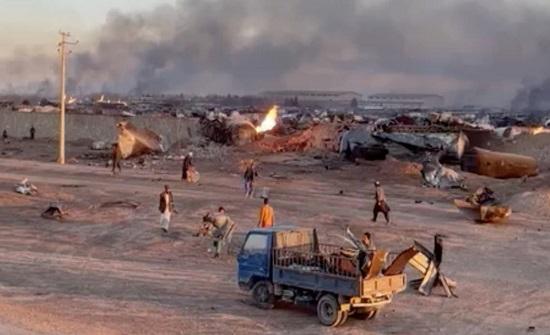 لليوم الثاني.. نار النفط مشتعلة بين إيران وأفغانستان