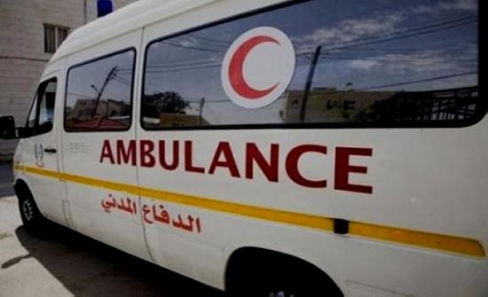 إصابة شخص اثر حادث تدهور في معان