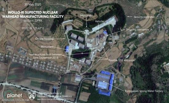 """صور فضائية تظهر أنشطة كوريا الشمالية في """"الموقع المشبوه"""""""