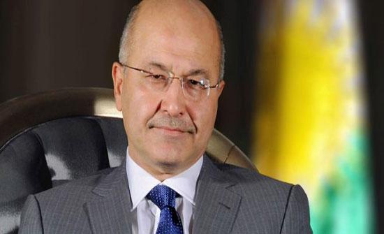 الملك يجري اتصالا هاتفيا مع الرئيس العراقي