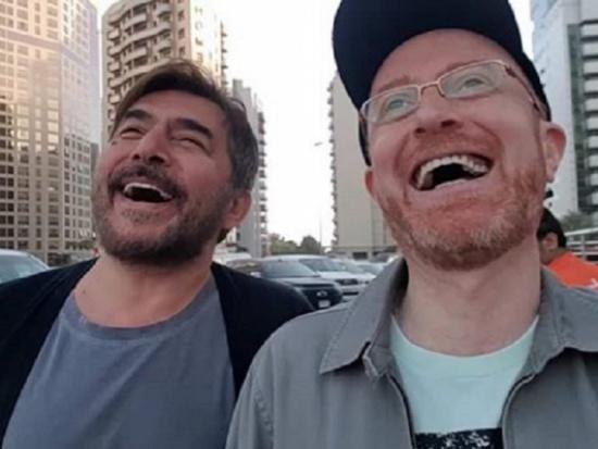 بالفيديو- عابد فهد ومصطفى الخاني يتمشيان ويسردان اجمل الذكريات التي جمعتها في سوريا