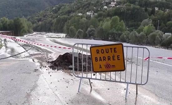 (فيديو) ثمانية مفقودين إثر فيضانات عارمة وخارجة عن المألوف في جنوب فرنسا