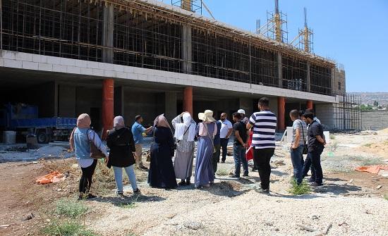 مهندسو جرش يزورون المشاريع الانشائية في المحافظة