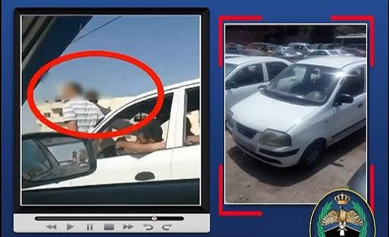 بالفيديو :ضبط سائق بعمان يقود مع وجود شخصين على مقدمة المركبة