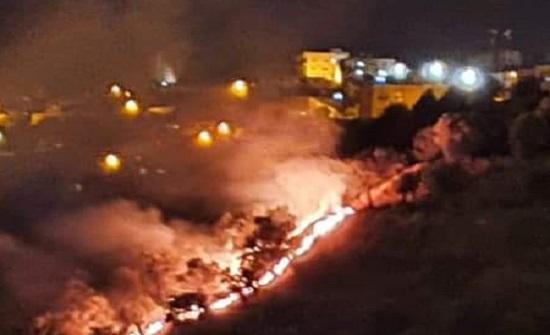 عاجل :  حريق بمدينة عجلون .. صور