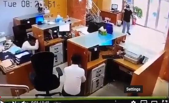 بالفيديو: محاولة سطو فاشلة على بنك في لبنان