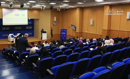 وفد من مشروع EDU-SYRIA يلتقي الطلبة السوريين في جامعة الزرقاء