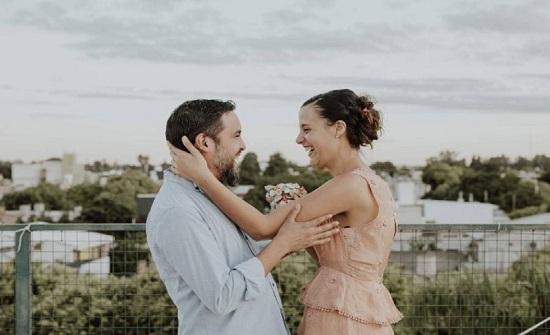 """حفل زفاف عبر الإنترنت في الارجنتين بسبب الوباء""""صورة"""""""