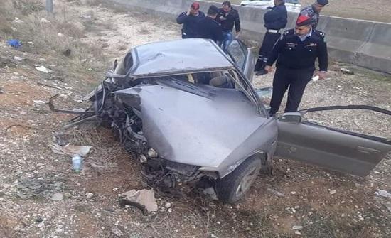 شاهدوا الحادث الذي اسفر عن وفاة شخصين على طريق اربد عمان
