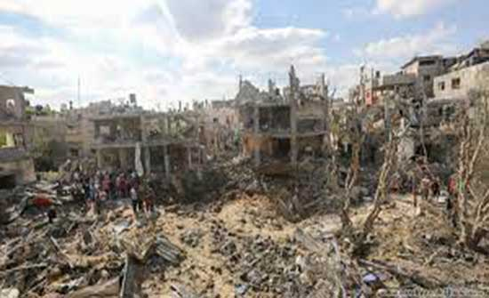 غزة : هبوط كبير في المنطقة المتضررة جراء العدوان الاسرائيلي