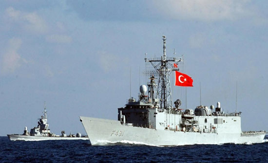 البحرية التركية اعترضت سفينة إسرائيلية قبالة قبرص