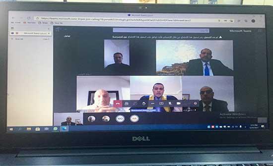 مناقشة رسالة ماجستير في القانون للطالب محمد عبيدات في جامعة إربد الأهلية