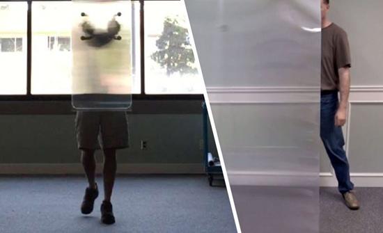 فيديو مذهل : مادة شفافة تُخفي الأشياء والأشخاص أيضًا