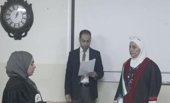 المقبولون ببرنامج دبلوم المعهد القضائي يؤدون القسم القانوني
