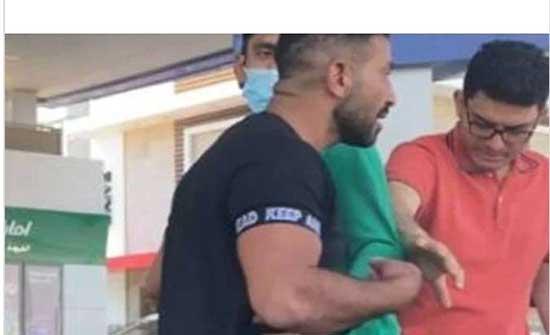 """الفنان أحمد سعد يضرب شابا بـ""""القلم"""" في محطة بنزين"""