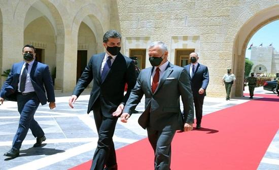 الملك يلتقي بارزاني في عمّان