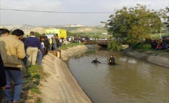 بالفيديو : وفاة 3 أطفال غرقا في قناة الملك عبدالله