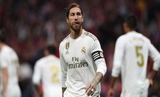 راموس يغيب عن مران ريال مدريد