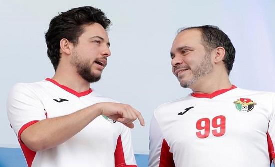 الامير حسين في مباراة الاردن والكويت