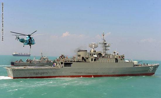 """البحرية الإيرانية تتوعد بـ""""رد ساحق"""" على أي ضربة عسكرية"""