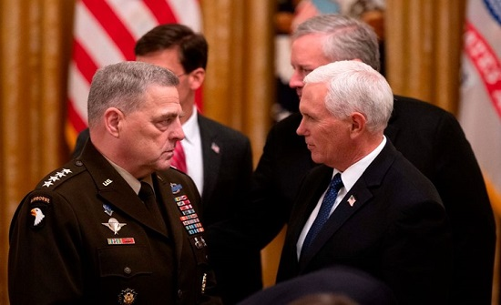 بيان عسكري نادر.. هيئة الأركان الأمريكية تندد باقتحام الكونغرس