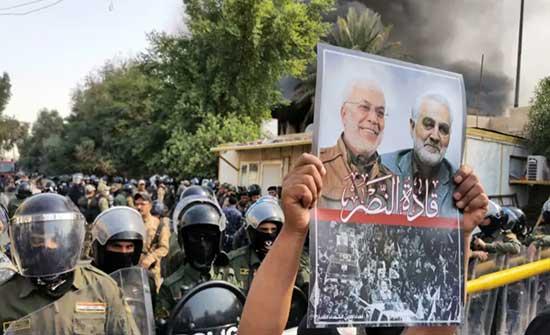 الميلشيات الإيرانية تستعرض قوتها الجوية وتهاجم القوات الجوية العراقية