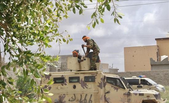 مدفعية الحكومة الليبية تستهدف تجمعا لمليشيا حفتر جنوبي طرابلس