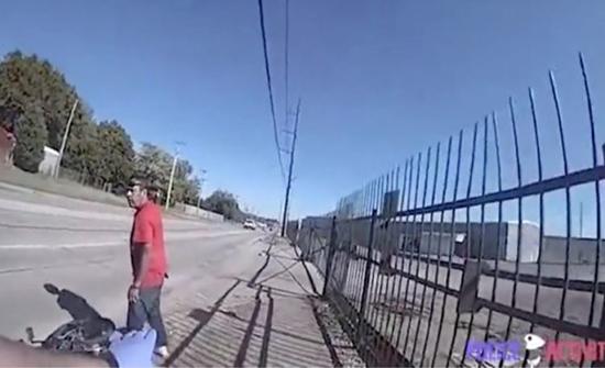 بالفيديو : شرطي أمريكي يقتل رجلاً خلال مساعدته لسيدة علقت سيارتها في ولاية أوكلاهوما