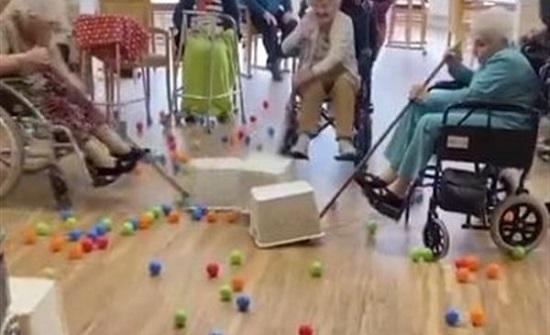 بريطانيا:مسنين يتحدون كورونا باللعب والمرح.. شاهد مقطع مثير للإعجاب