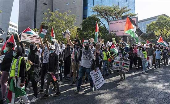 موزمبيق.. احتجاجات منددة بالعدوان الإسرائيلي بحق الفلسطينيين