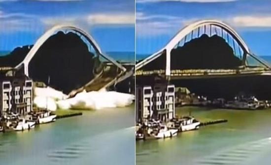 بالفيديو: لحظة انهيار جسر في تايوان وإصابة 14 شخصاً
