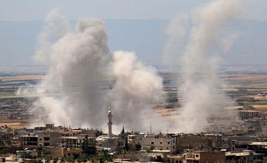 بالفيديو : بعد 22 يوما.. عودة القصف الروسي لمناطق في إدلب