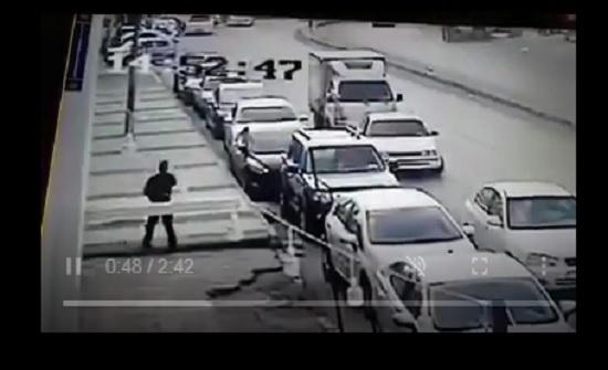 بالفيديو : لحظة السطو المسلح على بنك في المحطة