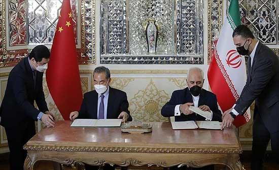 """محتجون على اتفاقية التعاون مع الصين: """"إيران ليست للبيع"""""""