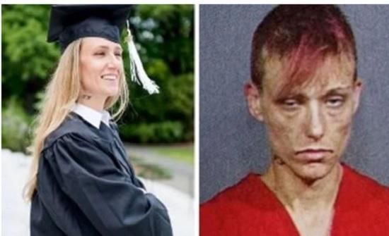 امريكا : .سيدة تتحول من مدمنة مخدرات إلى طالبة جامعية متفوقة.. صور