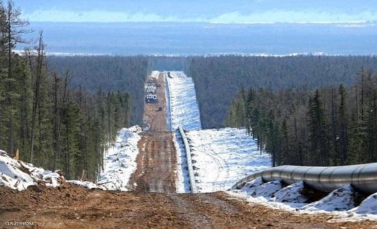 """3 آلاف كيلومتر.. الصين وروسيا تدشنان """"خط سيبيريا"""" الهائل"""