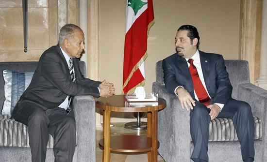 أبو الغيط يبحث مع الحريري آخر التطورات على الساحة اللبنانية