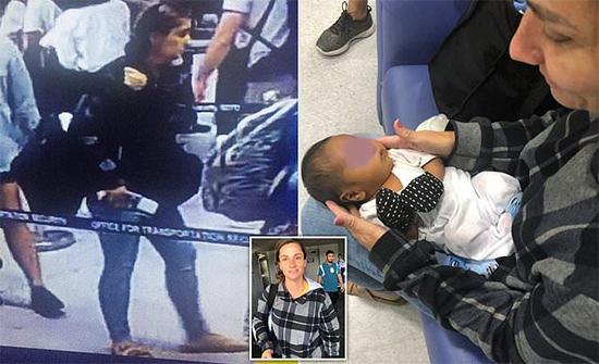شاهد: امرأة أمريكية تسرق رضيع وتلجأ لحيلة غريبة لتهريبه من مطار في الفلبين