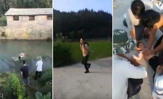 بالفيديو: إنقاذ طفل بعد غرقه وطفوه على سطح الماء بطريقة إحترافية