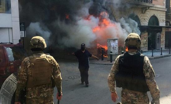 105 إصابات في صفوف الجيش اللبناني بمواجهات بيروت