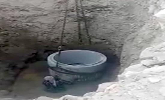وقف حفر بئر ماء عشوائي بجانب نبع عين راحوب باربد