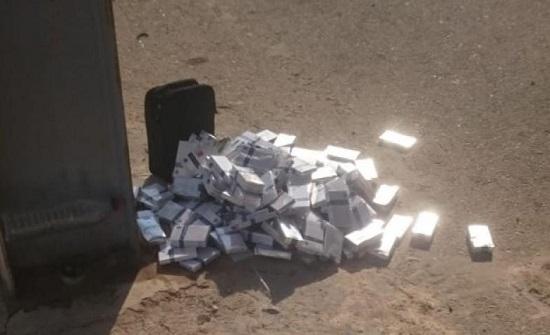 بالصور : ضبط 1233 كروز دخان في معبر حدود جابر